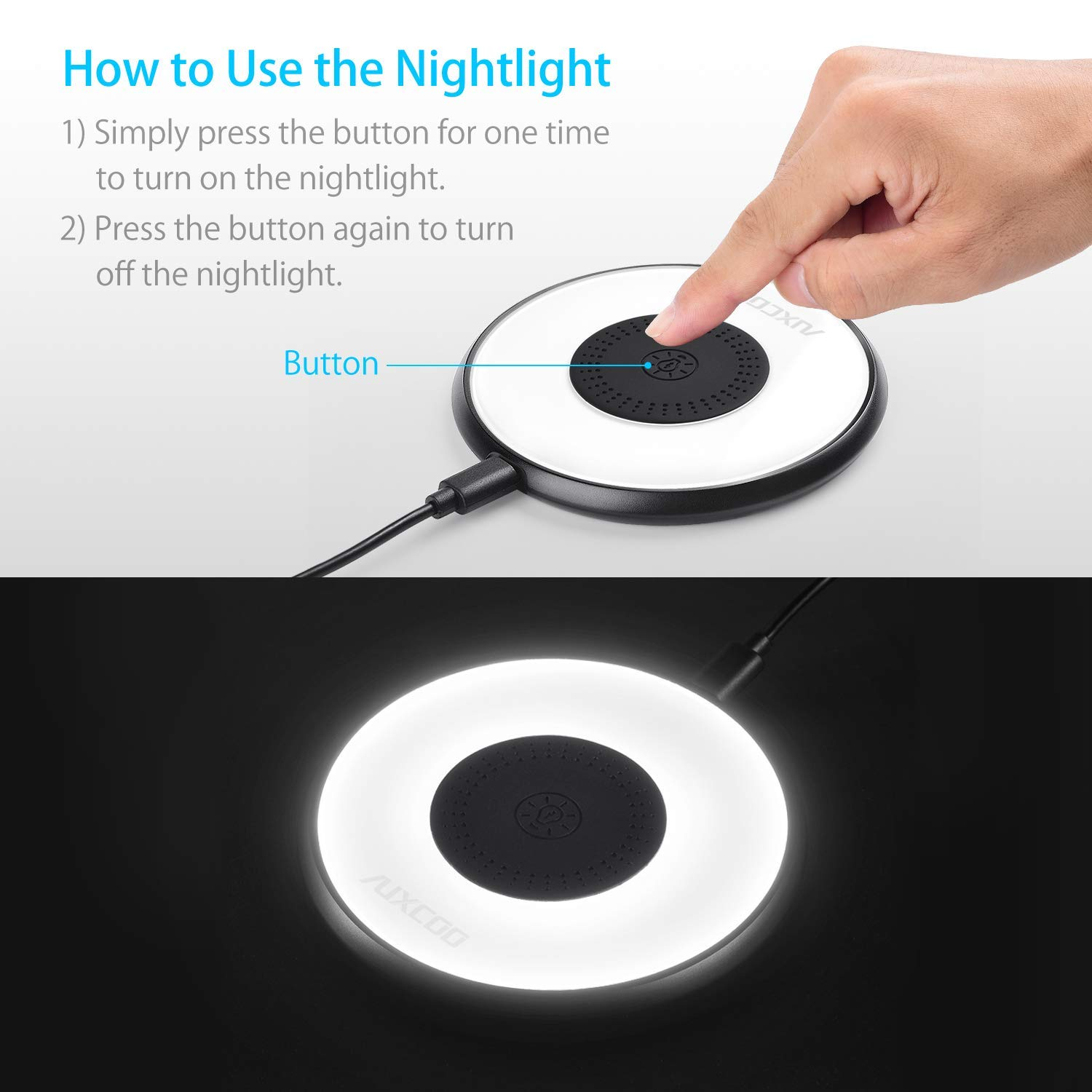 AUXCOO Q101 Night Light Universal Wireless Charger Charging
